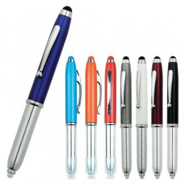 Metal Tükenmez Işıklı Dokunmatik Kalem