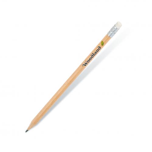 Naturel Yuvarlak Silgili Kurşun Kalem