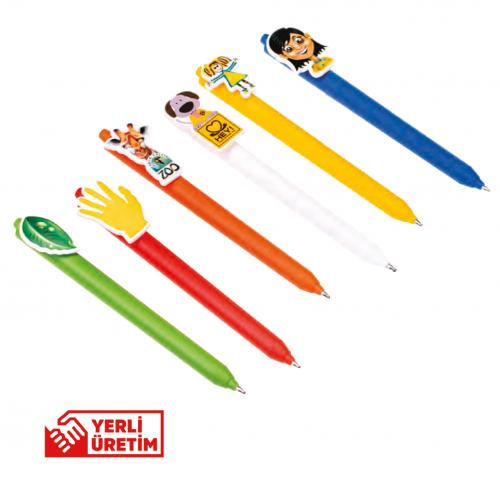 Özel Klips Plastik Tükenmez Kalem