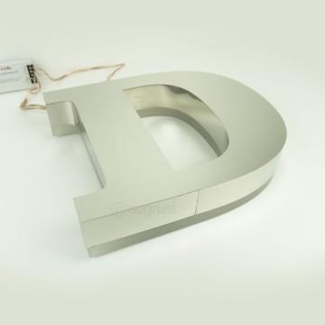 Endirekt Paslanmaz zemine 20mm Pleksi Kutu Harf