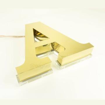 Endirekt Paslanmaz zemine 10mm Pleksi Kutu Harf
