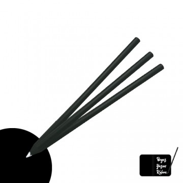 Beyaz Yazan Siyah Latalı Yuvarlak Kurşun Kalem