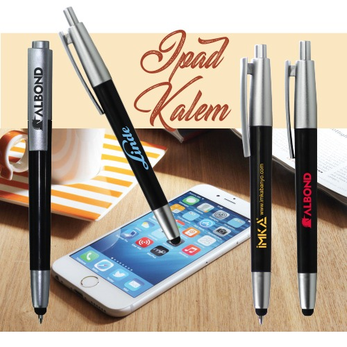 Dokunmatik Ekran Kalemli Plastik Tükenmez Kalem