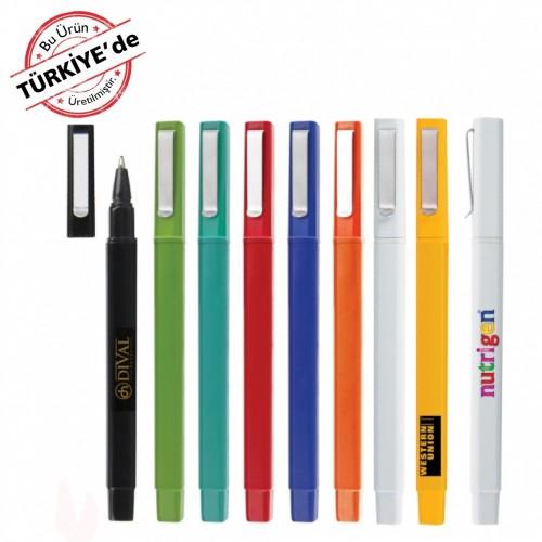 Kapaklı Plastik Tükenmez Kalem