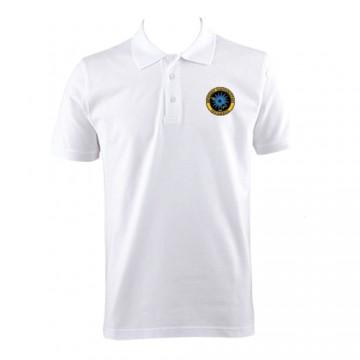Beyaz Lakost Polo Yaka T-shirt