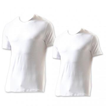 Beyaz Bisiklet Yaka Tüp T-shirt